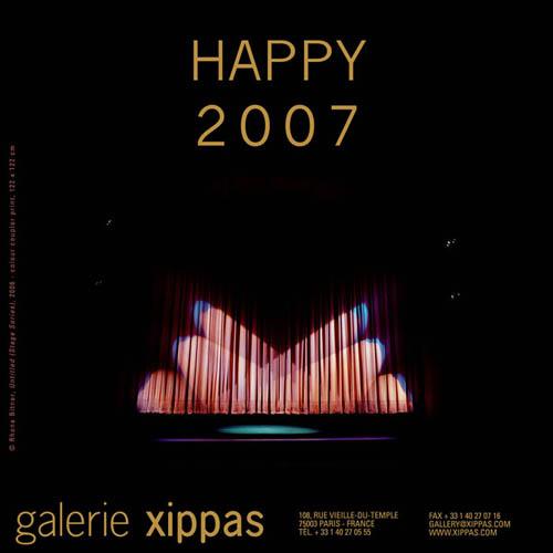 Carte de voeux de la galerie Xippas - Rhona BITNER